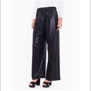 ✨AMERICAN APPAREL✨Black Metallic Wide Leg Pants